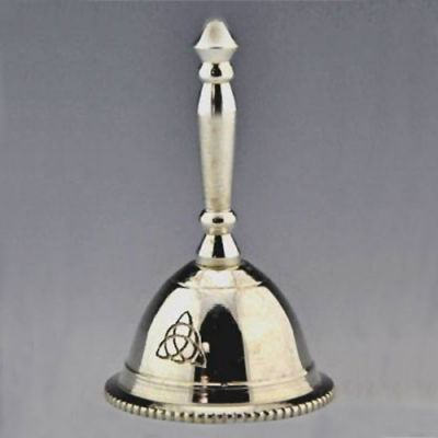 Celtic Triquetra Silver Bell, 3 inch