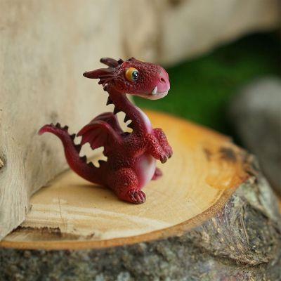 Mini Red Dragon Statue