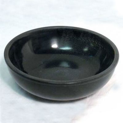 Black Marble Bowl, 6 inches