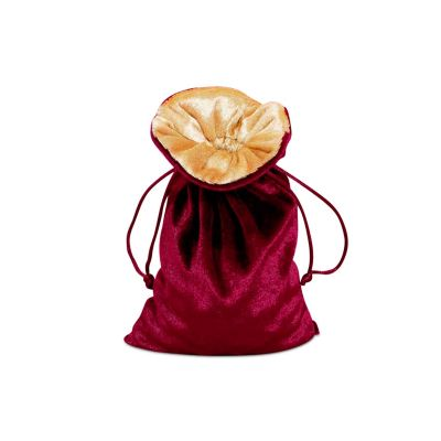 Burgundy Velvet Lined Bag