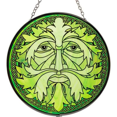 Celtic Green Man Stained Glass