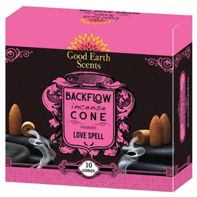 Love Spell Backflow Incense Cones
