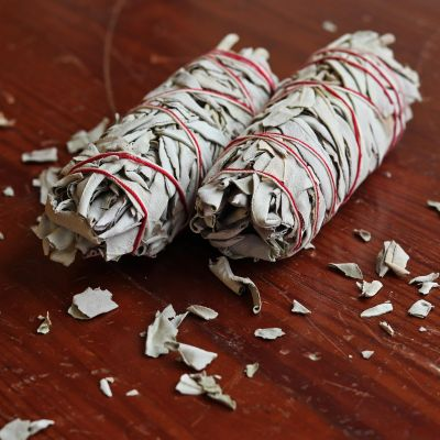 White Sage Smudge Stick, Medium