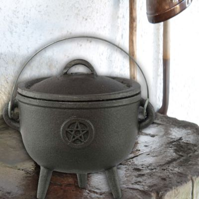 Potbelly Pentacle Cauldron, 4.5 inch